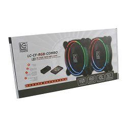 Ventilator LC POWER LC-CF-RGB-COMBO, RGB, 120mm, 1200-1500 okr/min