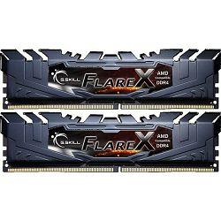 Memorija PC-25600, 16 GB, G.SKILL Flare X AMD, F4-2933C14D-16GFX, DDR4 2933MHz, kit 2x8GB