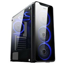 Kućište MS Industrial Aquarius Pro gaming, window, MIDI, ATX, crno, bez napajanja
