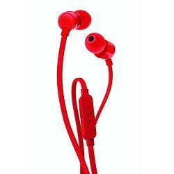 Slušalice JBL T110, in-ear, crvene