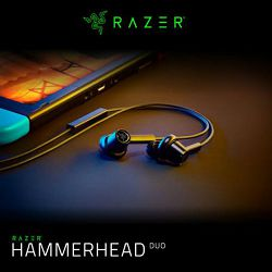 Slušalice RAZER Hammerhead Duo, in ear, crne