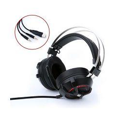 Slušalice REDRAGON Bio H801, 7.1, mikrofon, crno-crvene