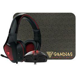 Miš + slušalice + podloga GAMDIAS ARTEMIS 3 in 1 Combo, ZEUS E2, EROS E1, NYX E1