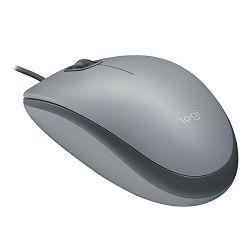 Miš LOGITECH M110 Silent, žični, optički, USB, sivi