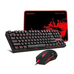 Tipkovnica + miš + podloga za miš REDRAGON Combo K552-BA, US layout, USB
