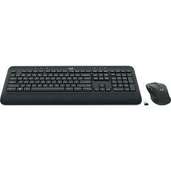 Tipkovnica + miš LOGITECH MK545 Advanced Combo, bežična, crna, Unifying receiver USB
