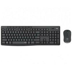 Tipkovnica + miš LOGITECH MK295 Silent Wireless Combo, bežična, crna, USB