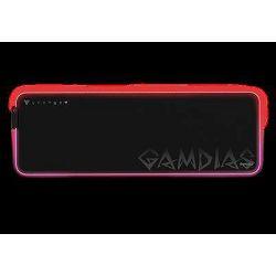 Podloga za miš, GAMDIAS NYX P3, RGB, crna