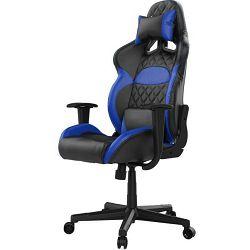 Gaming stolica GAMDIAS ZELUS E1 L BB, 2D, crno-plava