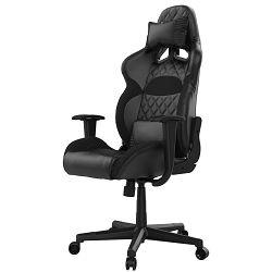 Gaming stolica GAMDIAS ZELUS E1 L B, 2D, crna