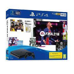 Igraća konzola SONY PlayStation 4, 500GB, F Chassis, crna + FIFA 21 + FUT VCH + PS Plus 14dana
