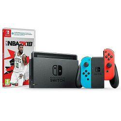 Igraća konzola NINTENDO Switch, Red & Blue Joy-Con HAD, NBA 2K18