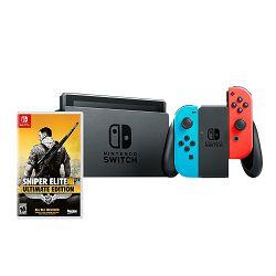 Igraća konzola NINTENDO Switch, Red & Blue Joy-Con HAD + Sniper Elite III Ultimate