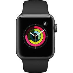 Pametni sat APPLE, Watch Series 3, WiFi, BT, 38 mm, sivi, crni sportski remen