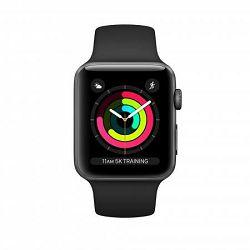 Pametni sat APPLE Watch Series 3 42mm, GPS, sivi, crni sportski remen