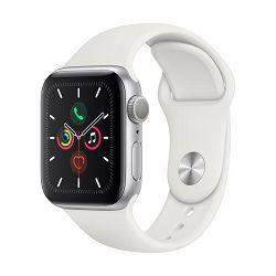 Pametni sat APPLE Watch Series 5 GPS, 40mm, srebrni aluminijski, bijela sportska narukvica