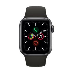 Pametni sat APPLE Watch Series 5 GPS, 40mm, sivi aluminijski, crna sportska narukvica