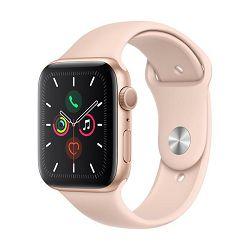 Pametni sat APPLE Watch Series 5 GPS, 44mm, zlatni aluminijski, pink sand sportska narukvica, S/M & M/L