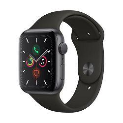 Pametni sat APPLE Watch Series 5 GPS, 44mm, sivi aluminijski, crna sportska narukvica, S/M & M/L