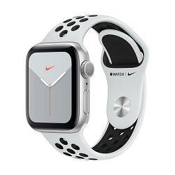 Pametni sat APPLE Watch Nike Series 5 GPS, 40mm, srebrni aluminijski okvir sa platinom, crna Nike sportska narukvica