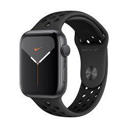 Pametni sat APPLE Watch Nike Series 5 GPS, 44mm, sivi aluminijski okvir sa antracitom, crna Nike sportska narukvica, S/M & M/L