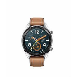 Sportski sat HUAWEI Watch GT 2, HR, GPS, 46mm, multisport, srebrno/smeđi
