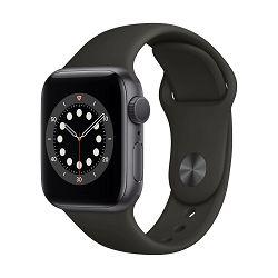 Pametni sat Apple Watch Series 6 GPS, 40mm Space Gray Aluminium Case with Black Sport Band - Regular