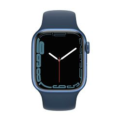 Pametni sat Apple Watch S7 GPS, 41mm Blue Aluminium Case with Abyss Blue Sport Band - Regular