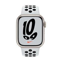 Pametni sat Apple Watch S7 GPS, 41mm Starlight Aluminium Case with Pure Platinum/Black Nike Sport Band - Regular