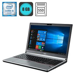 Laptop Fujitsu LifeBook E756, Intel Core i5-6300U, 8GB, 240GB SSD, WinPro