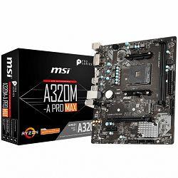 Matična ploča MSI Main Board Desktop A320 (SAM4, 2xDDR4, PCI-Ex16, PCI-Ex1, USB3.2, USB2.0, SATA III, M.2, HDMI, DVI-D, GLAN) mATX Retail
