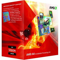 Procesor AMD A4-Series X2 4020 (3.4GHz,1MB,65W,FM2) box, Radeon TM HD 7480D