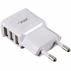 Akyga USB charger AK-CH-05 240V 3100mA 3xUSB white