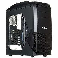 Kućište Case Midi ATX Case Midi Gamer ATX Akyga AKY011BG USB 3.0 gamer plexi window w/o PSU + card reader SD / MMC / TF