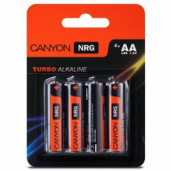 Canyon NRG alkaline battery AA, 4pcs/pack