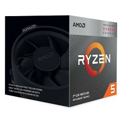 AMD Ryzen 5 3400G, 4C/8T, 3.7GHz,RX VEGA, box, AM4
