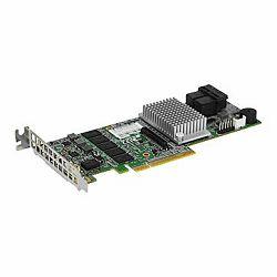 Supermicro AOC-S3108L-H8IR, 8 ports (Int), 12Gbs (SAS3), 2GB DDR3 Cache, RAID 0, 1, 5, 6, 10, 50, 60 - Low Profile