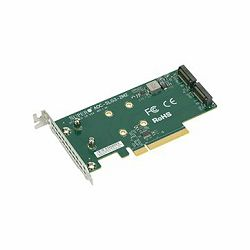 Supermicro Low Profile, Dual NVMe M.2 SSD PCIe add-on card