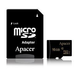Apacer micro SDHC UHS-I U1 CL10 R85, 16GB