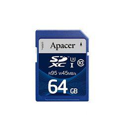 Apacer SDHC UHS-I U3 CL10 R95/W45, 64GB