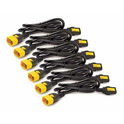 APC Power Cord Kit (6 ea), Locking, C13 to C14, 0.6m