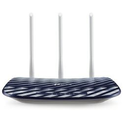 TP-LINK AC750 Dual Band Wireless Router, Mediatek, 433Mbps at 5GHz + 300Mbps at 2.4GHz, 802.11ac/a/b/g/n,1 10/100M WAN + 4 10/100M LAN, Wireless On/Off, 1 USB 2.0 port, 2 fixed antennas