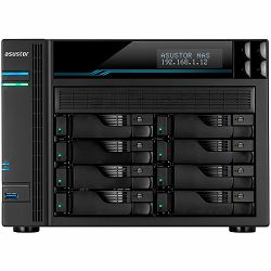 ASUSTOR Tower Lockerstor8 - 8 Bay NAS Intel ATOM C3538 Quad-Core, 8GB DDR4, 10GbE x 2, 2.5GbEx2, USB3.2Gen1x2, M.2 SSD (2280/2260/2242 SATA/PCIe SSD)x2, lockable tray, AES-NI HW encryption, MyArchive,