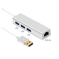 Asonic USB3.0 Hub + Ethernet Gbit adapter
