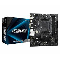 Asrock AMD AM4 A520M-HDV