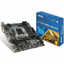 Matična ploča MSI B250 (S1151,4xDDR4,1xPCI-Ex16,2xPCI-Ex1, USB3.0,SATA III,DVI,HDMI,GLAN) mATX Retail