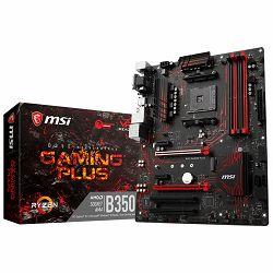 Matična ploča MSI Desktop B350 (SAM4, 4xDDR4, 2xPCI-Ex16, 2xPCI-Ex1, 2xPCI, USB3.1,USB2.0, 4xSATA III, M.2, Raid, VGA, DVI-D, HDMI, GLAN) ATX Retail
