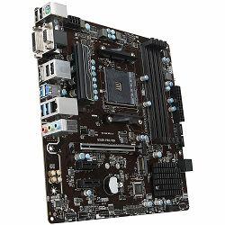 Matična ploča MSIDesktop B350 (SAM4, 4xDDR4, PCI-Ex16, 2xPCI-Ex1, USB3.1, USB2.0, 4xSATA III, M.2, Raid, VGA, DVI-D, HDMI, GLAN) mATX Retail