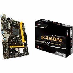 Matična ploča GIGABYTE Main Board Desktop AMD B450 (SAM4, 2xDDR4, 1xPCI-E3.0x16, 2xPCI-Ex1, USB3.1, USB2.0, 6xSATA III, 1xM.2, Raid, HDMI, VGA, GLAN) mATX Retail