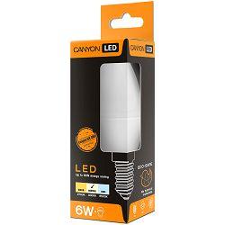 CANYON BE14FR6W230VN LED lamp, B38 shape, milky, E14, 6W, 220-240V, 150°, 494 lm, 4000K, Ra>80, 50000 h